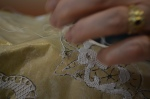 Making lace by hand in Burano, Italy